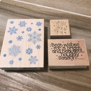 Crafting Stamps - 3 individual stamps!